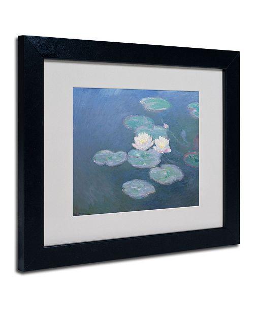 """Trademark Global Claude Monet 'Waterlilies Evening' Matted Framed Art - 14"""" x 11"""""""