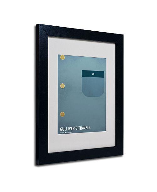"""Trademark Global Christian Jackson 'Gulliver's Travels' Matted Framed Art - 14"""" x 11"""""""