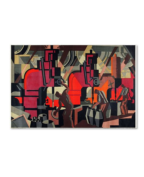 "Trademark Global Clive Gardiner 'Motor Manufacturing 1928' Canvas Art - 14"" x 19"""