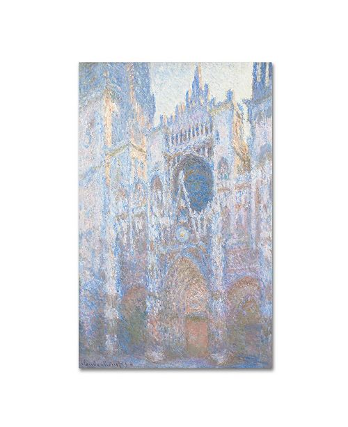 "Trademark Global Claude Monet 'Rouen Cathedral West Facade 1894' Canvas Art - 32"" x 22"""