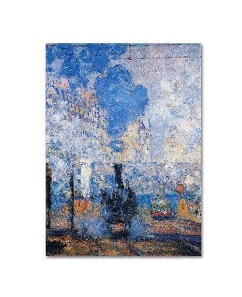 "Trademark Global Claude Monet 'Saint Lazare Station' Canvas Art - 14"" x 19"""