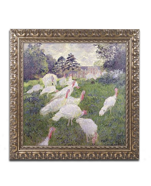 "Trademark Global Claude Monet 'The Turkeys at the Chateau' Ornate Framed Art - 11"" x 11"""