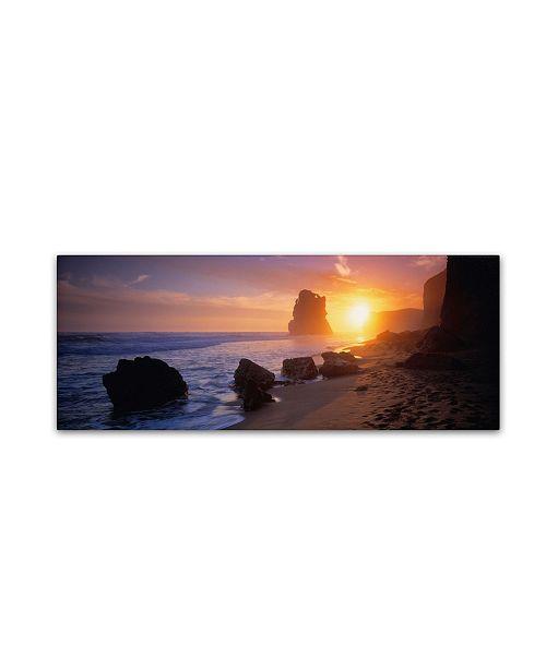 "Trademark Global David Evans 'Apostles from the Beach' Canvas Art - 24"" x 8"""