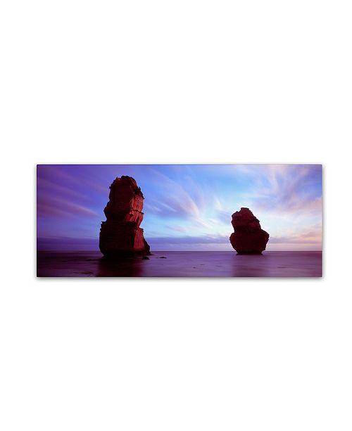 "Trademark Global David Evans 'Apostles Dusk' Canvas Art - 32"" x 10"""