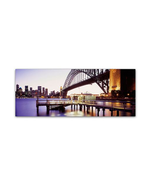 "Trademark Global David Evans 'Sydney Harbour' Canvas Art - 19"" x 6"""