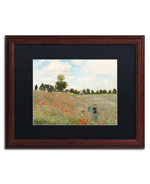 """Trademark Global Claude Monet 'Wild Poppies Near Argenteuil' Matted Framed Art - 20"""" x 16"""""""