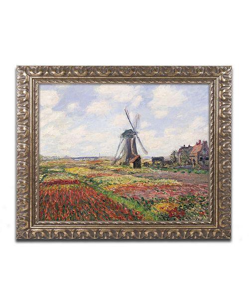 "Trademark Global Claude Monet 'Tulip Fields in Holland, 1886' Ornate Framed Art - 16"" x 20"""