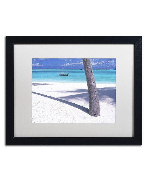"Trademark Global David Evans 'Palm Shadow-Maldives' Matted Framed Art - 16"" x 20"""