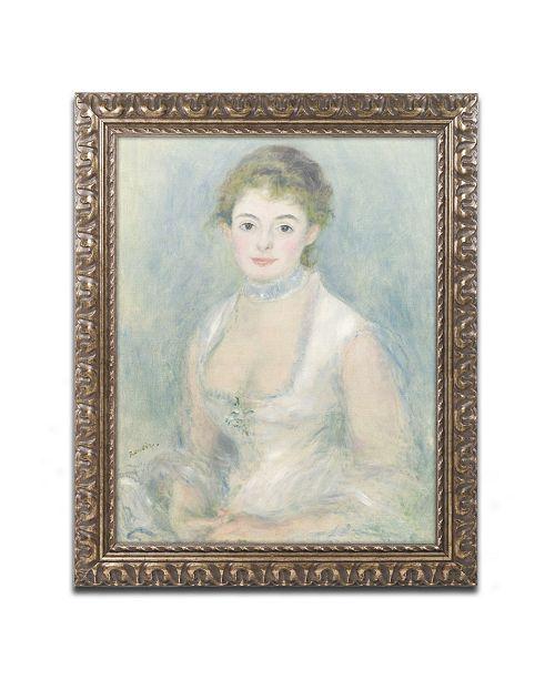 "Trademark Global Pierre Auguste Renoir 'Madame Henriot 1876' Ornate Framed Art - 11"" x 14"""