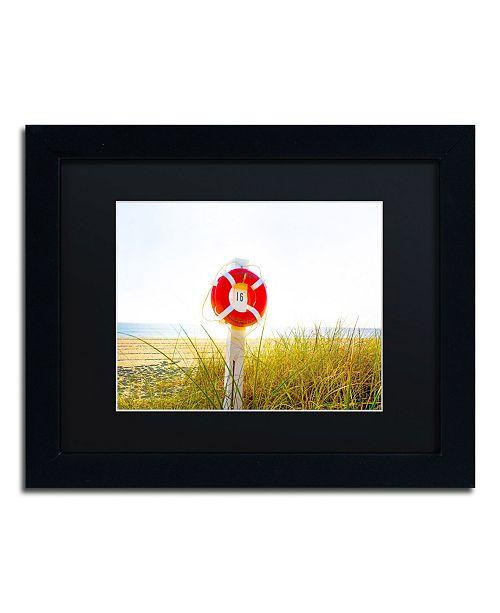 "Trademark Global Preston 'Florida Beach Saver' Matted Framed Art - 11"" x 14"""