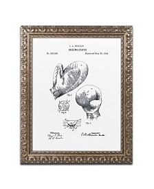 """Claire Doherty 'Boxing Gloves Patent 1894 White' Ornate Framed Art - 11"""" x 14"""""""