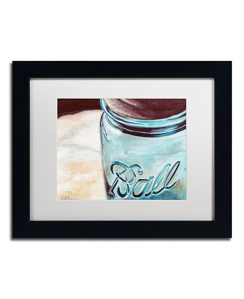 "Trademark Global Jennifer Redstreake 'Ball Jar' Matted Framed Art - 11"" x 14"""