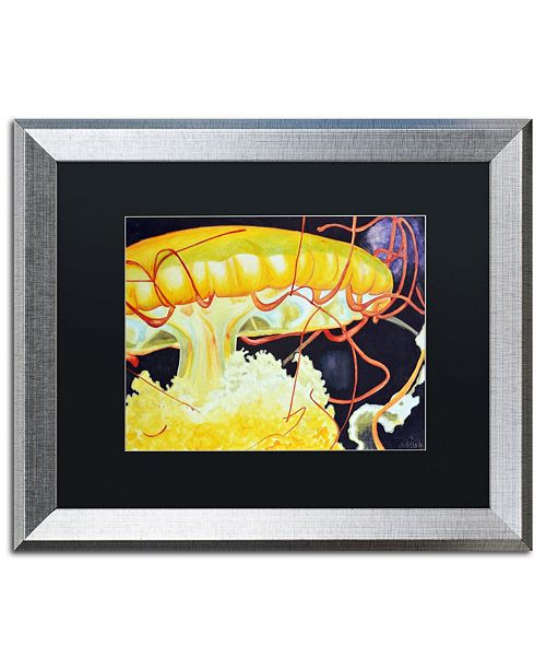 "Trademark Global Jennifer Redstreake 'Chattanooga Jelly Fish' Matted Framed Art - 16"" x 20"""