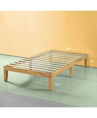 "Moiz 14"" Wood Platform Bed / No Boxspring Needed, Twin"