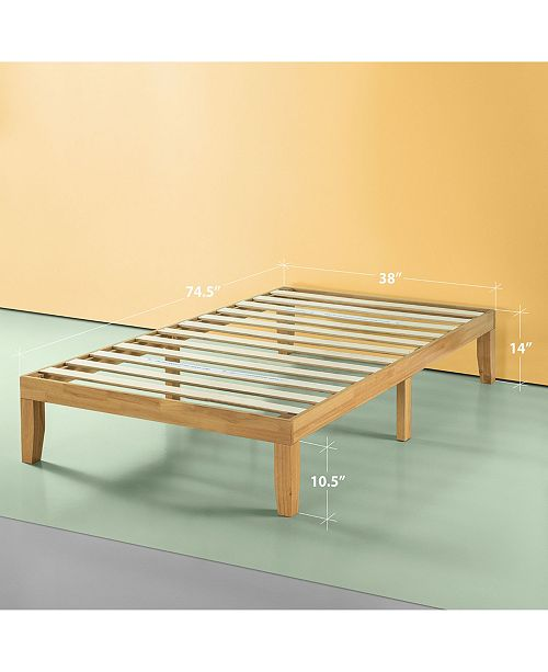 "Zinus Moiz 14"" Wood Platform Bed / No Boxspring Needed Collection"