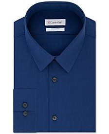 Men's Extra-Slim Fit 360º Contour Stretch Wrinkle-Free Solid Dress Shirt