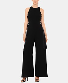 Petite Lace-Up Jumpsuit