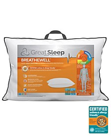 Breathewell Certified Asthma & Allergy Friendly Standard/Queen Pillow