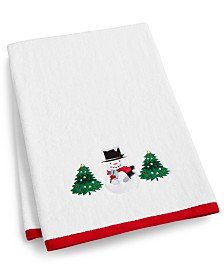 Martha Stewart Collection Snowman Cotton Bath Towel, Created for Macy's