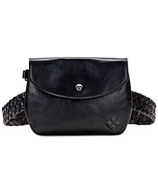 Marini Woven Leather Belt Bag