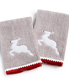 Martha Stewart Collection Reindeer 2-Pc. Fingertip Set, Created for Macy's