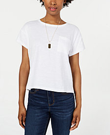 Ultra Flirt By Ikeddi Juniors' Boxy Pocket T-Shirt