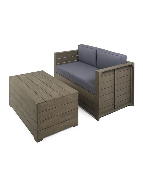 Furniture Oxnard 2pc Outdoor Chat Set, Quick Ship