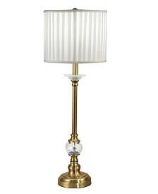 Dale Tiffany Tavon Lead Hand Cut Crystal Buffet Table Lamp