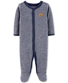 Baby Boys 1-Pc. Striped Terry Footed Pajamas