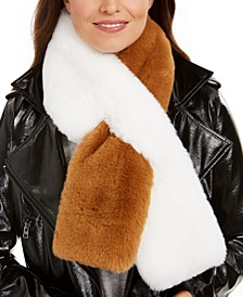 Rachel Two-Tone Faux-Fur Scarf, Created for Macy's