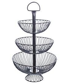 """St. Croix KINDWER 24"""" Three-Tier Decorative Wire Basket Stand"""
