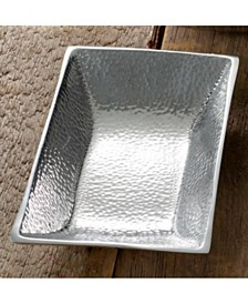 """St. Croix KINDWER 10"""" Hammered Aluminum Rectangle Tray"""