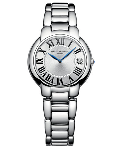 RAYMOND WEIL Watch, Women\'s Swiss Jasmine Stainless Steel Bracelet ...