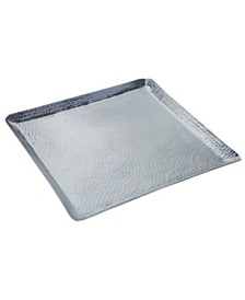St. Croix KINDWER Square Hammered Aluminum Tray