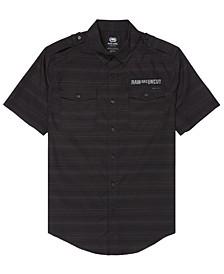 Men's Striped Chambray Woven Shirt
