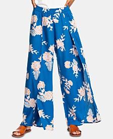 Roxy Juniors' Split Wide-Leg Pants
