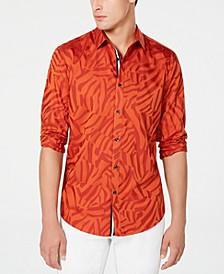 INC Men's Jacquard Animal Print Shirt
