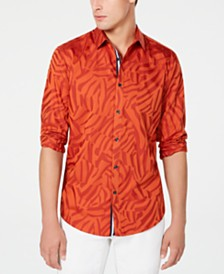 I.N.C. Men's Jacquard Animal Print Shirt