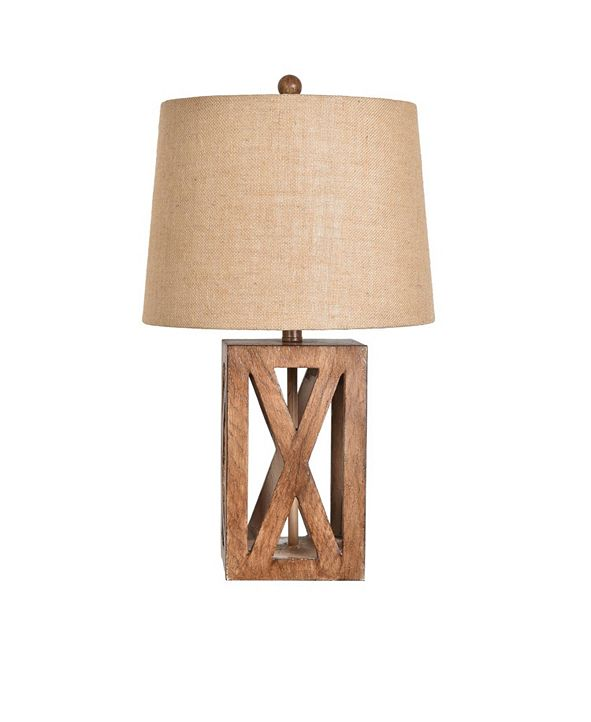 "Crestview Collection 25.75"" Resin Wood Table Lamp"