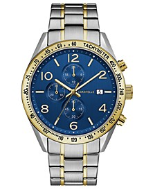 Men's Chronograph Two-Tone Stainless Steel Bracelet Watch 44mm