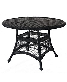 "Wicker 44"" Round Dining Table"