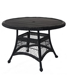 "Jeco Wicker 44"" Round Dining Table"