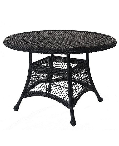 """Jeco Wicker 44"""" Round Dining Table"""