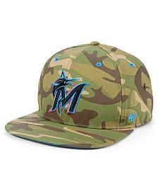 '47 Brand Miami Marlins Blockade Strapback Cap