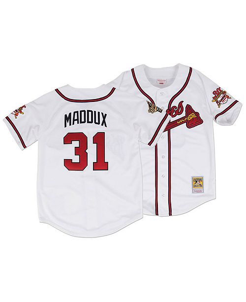Mitchell & Ness Men's Greg Maddux Atlanta Braves Authentic Cooperstown Jersey