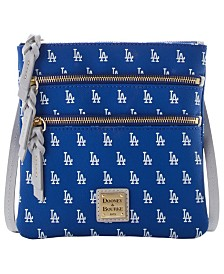 Dooney & Bourke Los Angeles Dodgers North South Triple Zip Purse