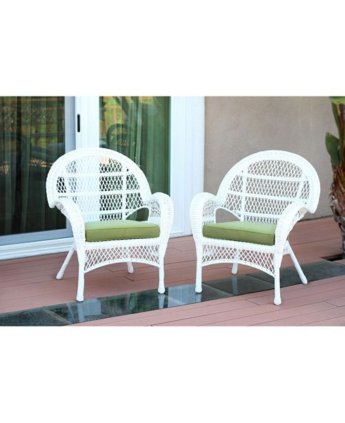 Jeco Santa Maria Wicker Chair with Cushion - Set of 4