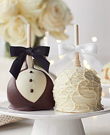 2-Pk. Bride & Groom Petite Caramel Apples