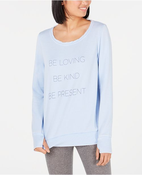Ideology Graphic Long-Sleeve Pullover, Created for Macy's