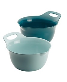 Rachael Ray Tools and Gadgets Nesting 2-Pc. 4-Qt. and 5-Qt. Mixing Bowl Set